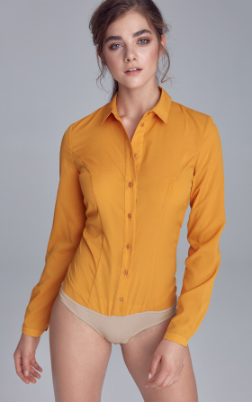 Body blouse - mustard