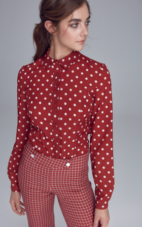 Body blouse - claret/peas
