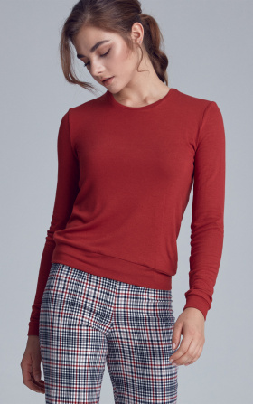 Knitted blouse - ginger