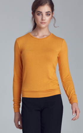 Knitted blouse - mustard