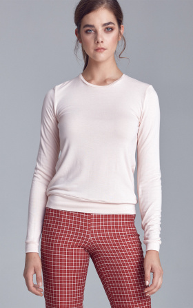 Knitted blouse - pink