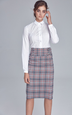 Pencil skirt with naps - checkered/pepito