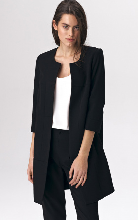 Black long jacket for woman