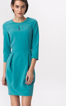 Turquoise tulip dress
