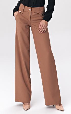 Karmelowe spodnie palazzo