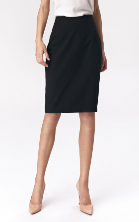 Simple pencil skirt - black