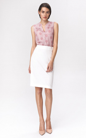Simple pencil skirt - ecru