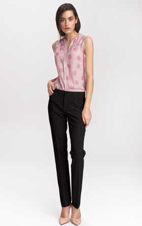 Black classic womens trousers