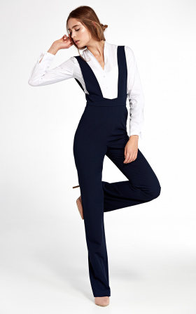 Clothes set containing jumpsuit with suspenders