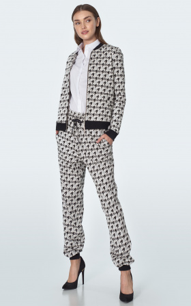 Casual tracksuit pants in pepito pattern