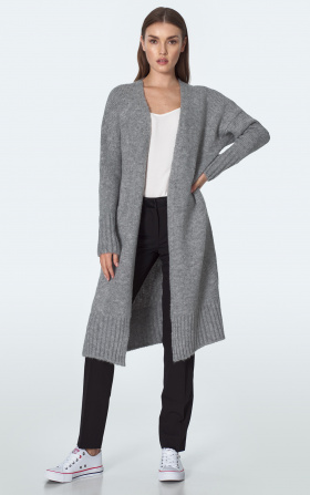 Long cardigan in gray