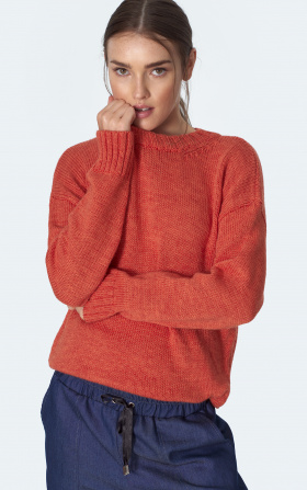 Classic orange sweater