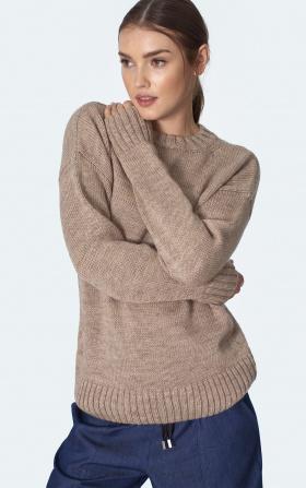Klasyczny beżowy sweter
