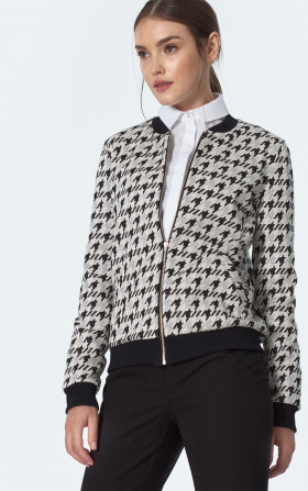 Bomber jacket in pepito pattern