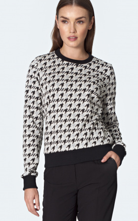 Sweatshirt with a welt in pepito pattern