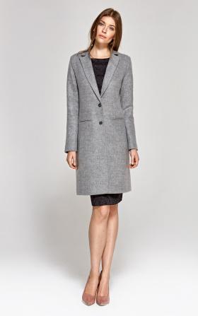 Klasyczny szary płaszcz