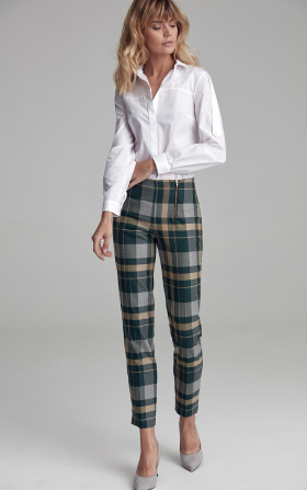 Classic chequered green trousers
