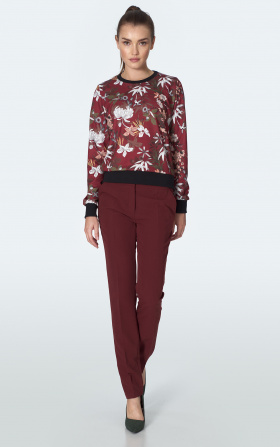 Burgundy classic trousers