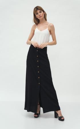 Czarna długa spódnica z wiskozy