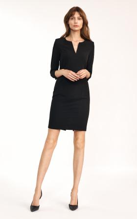 Dopasowana czarna sukienka mini