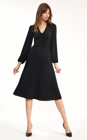 Klasyczna czarna sukienka midi
