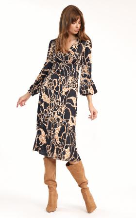 Safari midi dress