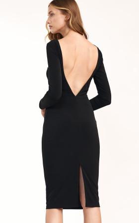 Black dress without back