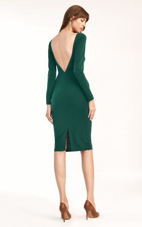 Green dress without back