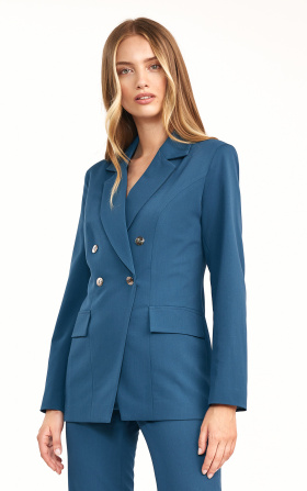 Doublebreasted azure blazer