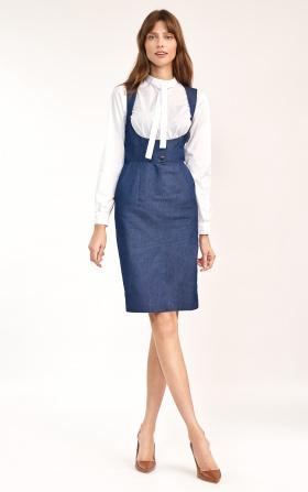 Jeansowa sukienka z guzikami