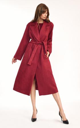 Claret oversize coat