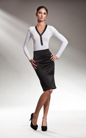 Elegancka klasyczna spódnica OŁÓWEK - czarny