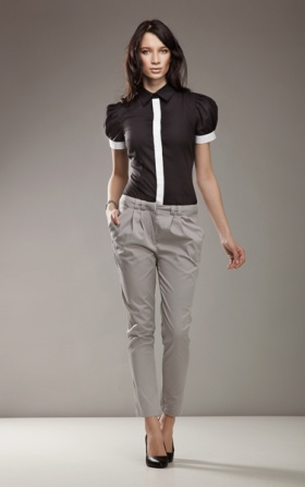 Elegant trousers 7/8 fashion - gray