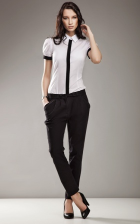 Elegant trousers 7/8 fashion - black