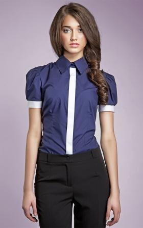 Granatowa koszula damska NEGATYW