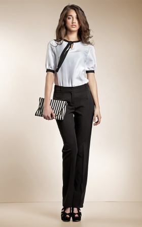 Garniturowe czarne spodnie