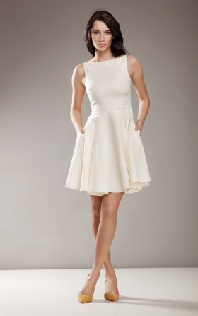 Stylish AUDREY dress - cream