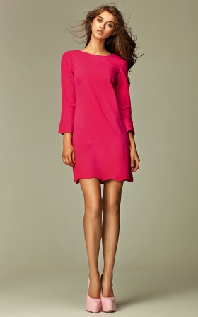 An intriguing dress with a zipper on the back - pinky