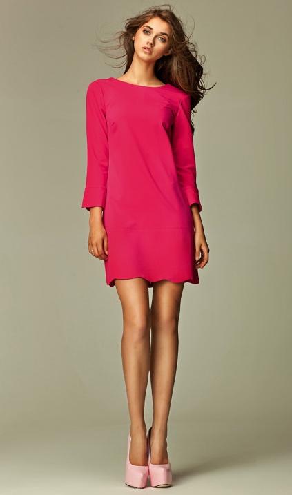 268fe6b80e Intrygująca sukienka z zamkiem na plecach - różowy