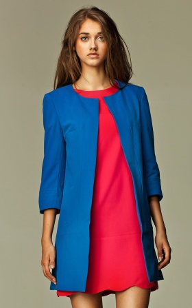 Long jacket KATE - blue