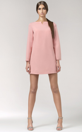 Loose short dress - pink