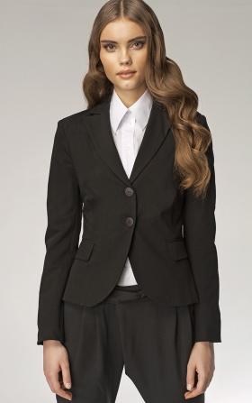 Elegancki czarny żakiet damski