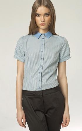 Koszula w prążki z krótkim rękawem
