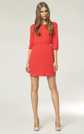 Fashionable dress - coral