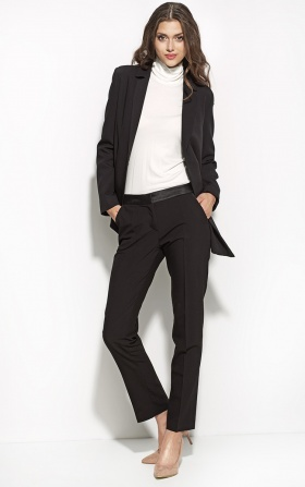 Black elegant trousers - black