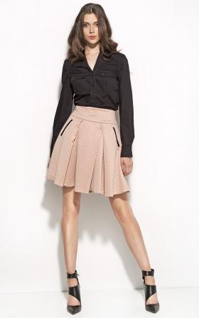 Modna koszula z kieszeniami - czarny